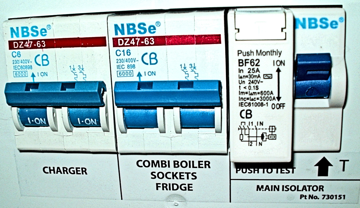 Practical Caravan Mcb Amps 1 Wiring Diagram Rcd 240v For A Please See Below Link Of The Mcbs In Van And How It Does Not Match With